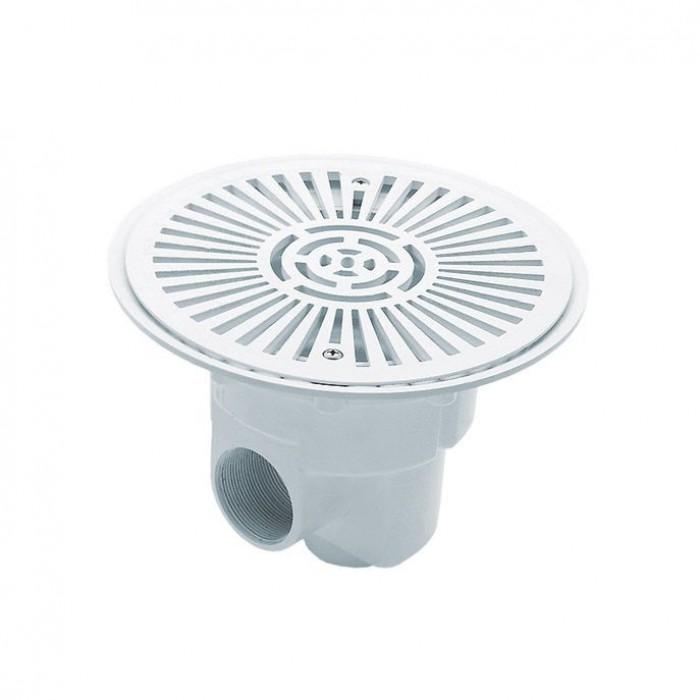 Слив донный круглый из ABS-пластика для бетонного бассейна