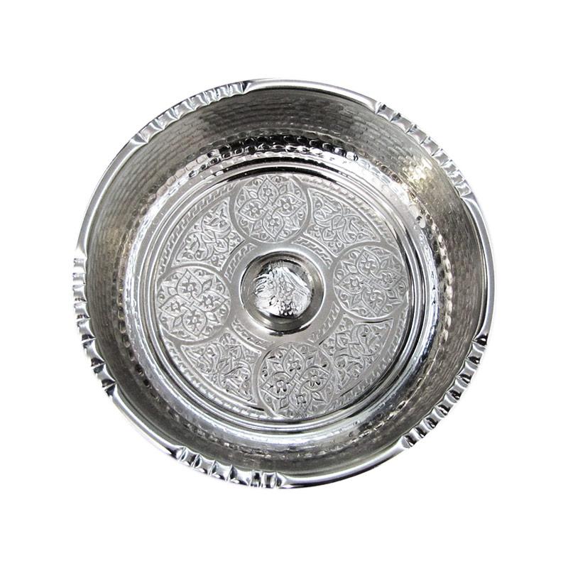 Чашка для хамама серебристая